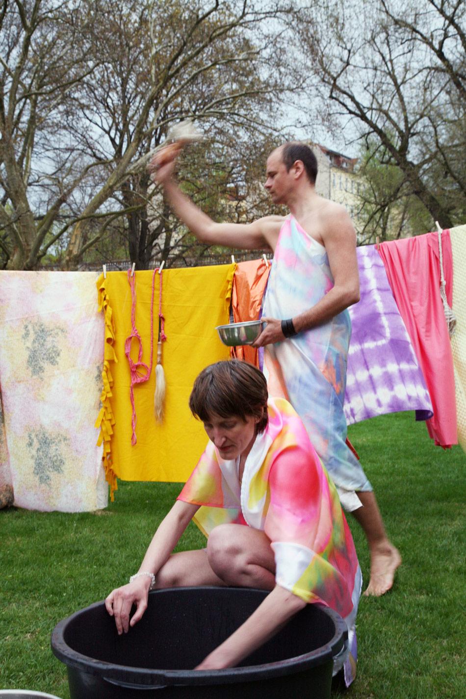 J&K, ter Heijne, Ray, Under Her Spell, participatory performance ritual, Galerie im Körnerpark, photos: Kai Dieterich