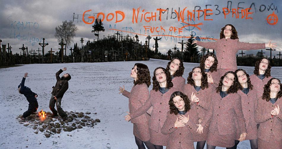 J&K, Good Night White Pride, photo collage, various sizes, 2008