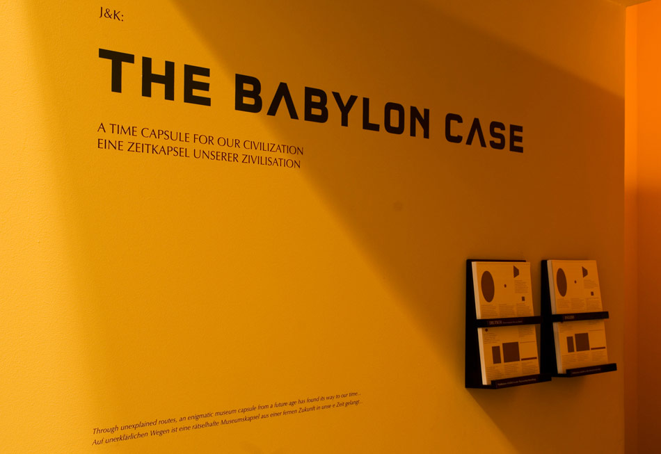 J&K, The Babylon Case, installation view at Pergamonmuseum Berlin, 2008, photo: Ch. Assmann