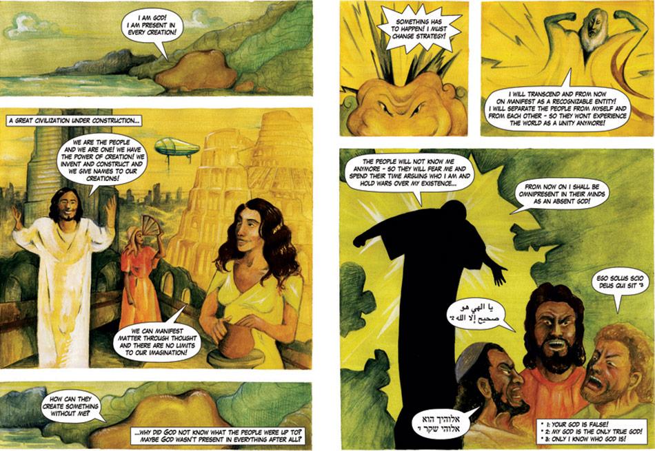 J&K, The Babylon Case, detail: The Claim of God, mixed media on paper, 2008