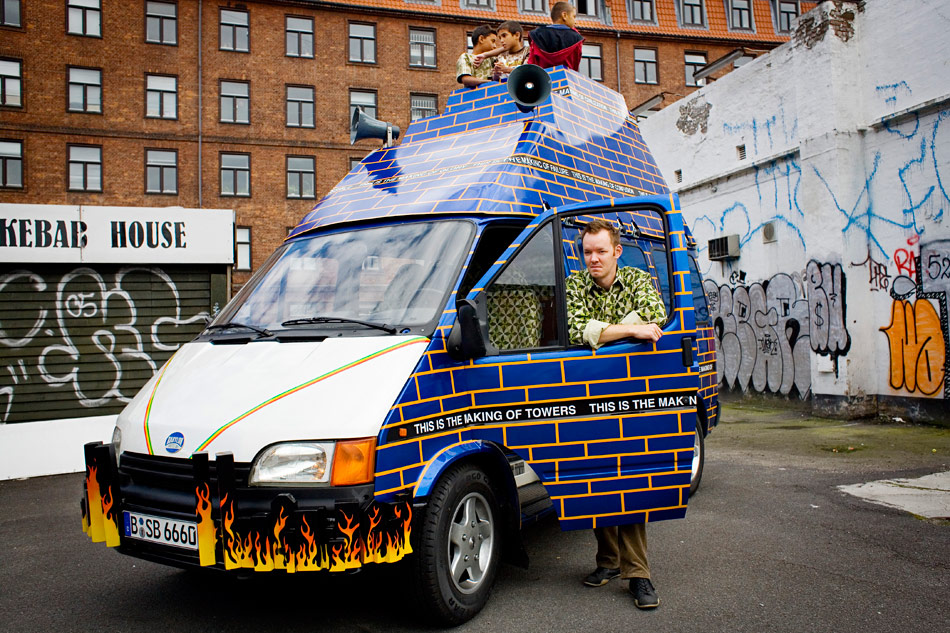 J&K, Babylon Shuttle Bus, sculpture, 2006, photo: Sid Ned