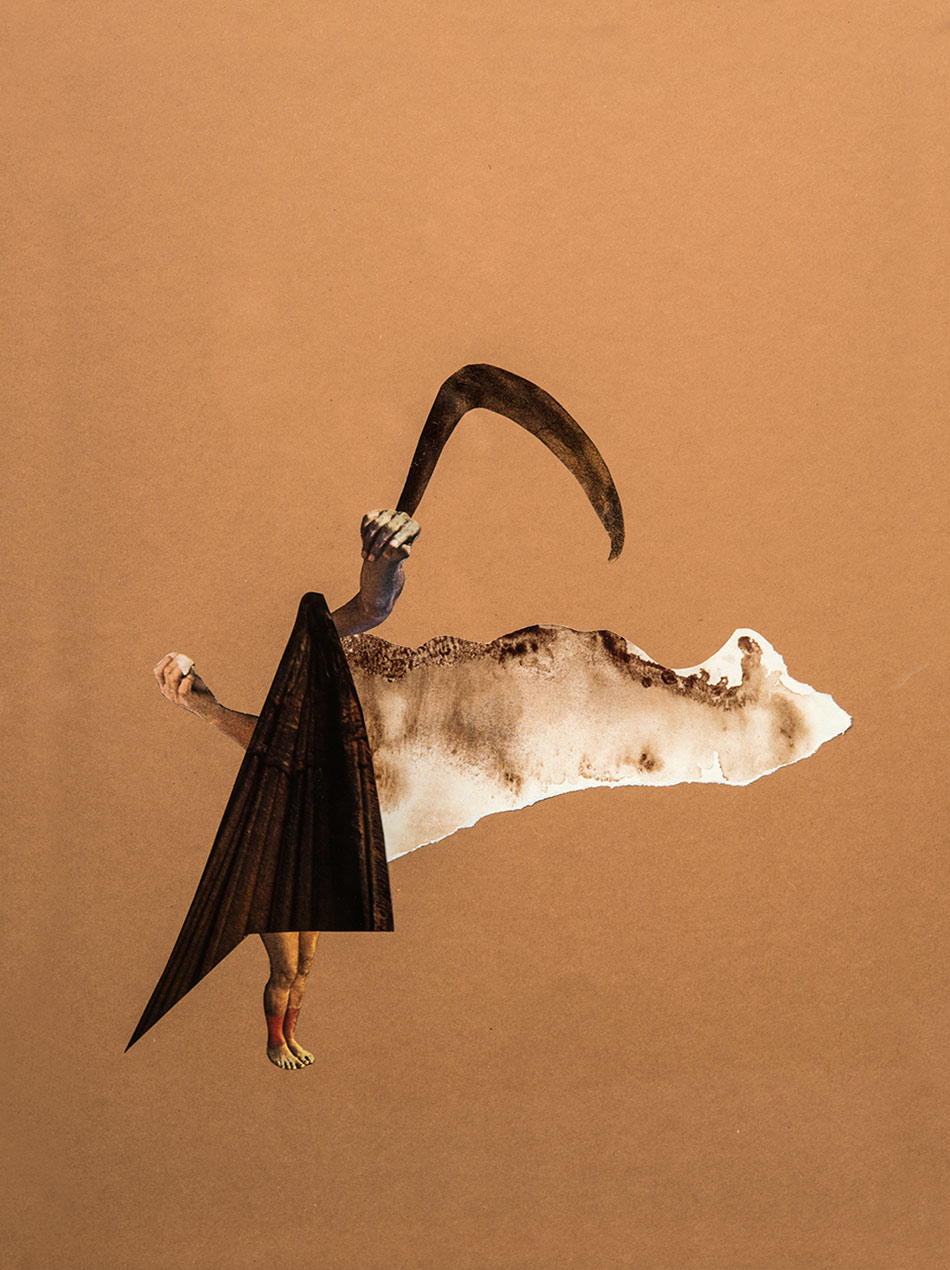 J&K, Fly Breath, paper cut collage on coloured paper, 30x40cm, 2015, photo: Fabæk