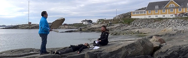 Dark Ice, performance Greenland Eyes Film Festival, Nuuk